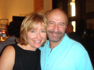 Emma Thompson and Robert Jezek at the Last Chance Harvey Wrap Party